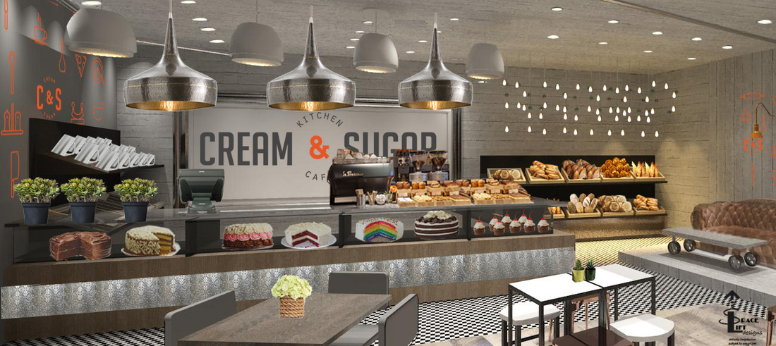 Charmant Coffee Shop/ Bakery Concept Design